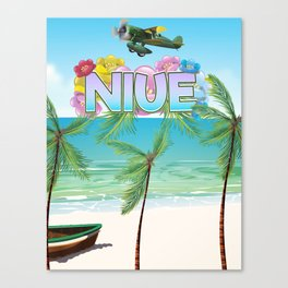 Niue South Pacific travel poster Canvas Print