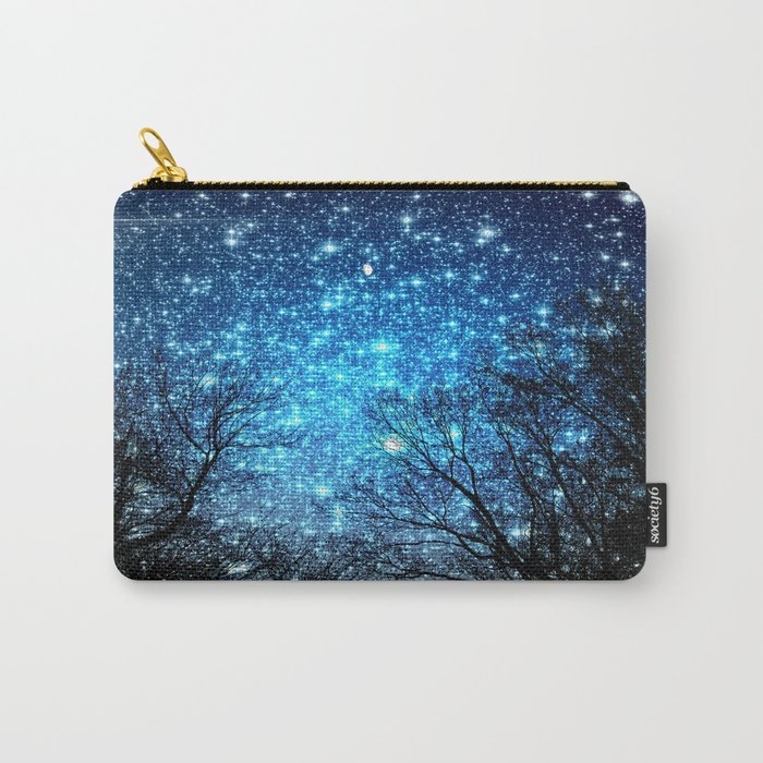 Black Trees Blue SPACE Carry-All Pouch