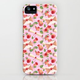 Roses Love Notes iPhone Case