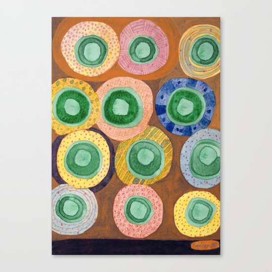 The Green Core Combines Canvas Print