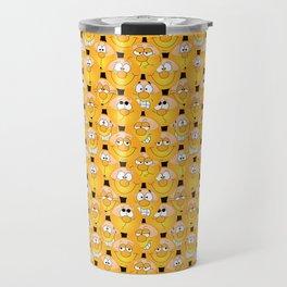 Funny Emoji Faces Travel Mug