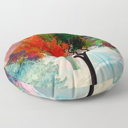 Lavish Abstract Landscape Floor Pillow