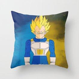 Minimalistic Vegeta Throw Pillow