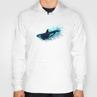 killer whale Hoodies featuring Lost in Serenity ~ Orca ~ Killer Whale by Amber Marine