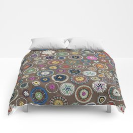 pango mandala truffle Comforters