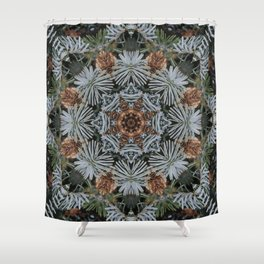 Spruce Cones And Needles Kaleidoscope K4 Shower Curtain
