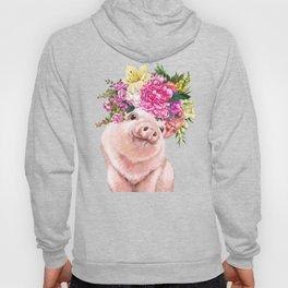 Flower Crown Baby Pig Hoody