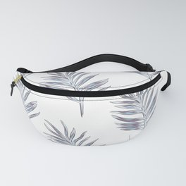 Blue exotic palm Fanny Pack