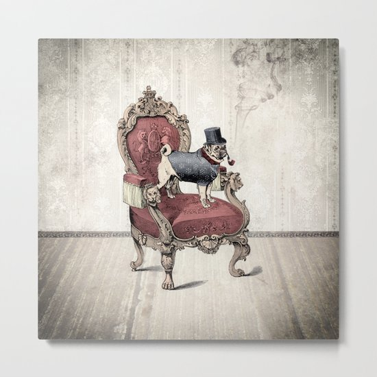 The Imperial Pug Metal Print