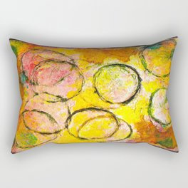 Abstract Circles Rectangular Pillow
