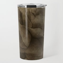 Red Rose Edges Antiqued Travel Mug