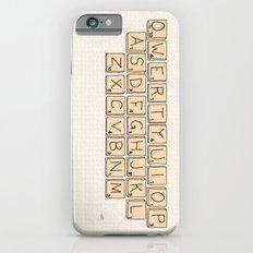 Qwerty Scrabble  Slim Case iPhone 6s