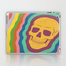 Trippy Rainbow Skull Laptop & iPad Skin