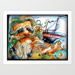 Old Man & The Sea  Art Print