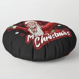 Merry Christmas Santa Claus vintage style Floor Pillow