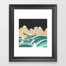 Over the Ocean Framed Art Print