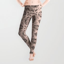 Pale Dogwood Diamond Floral Leggings