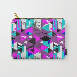 High Heels Geometric Pattern Carry-All Pouch