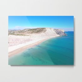 Aerial Beach Wall Art Print, Ocean Coastal Decor Metal Print