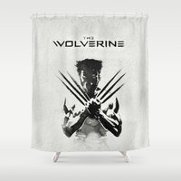 x men Shower Curtains featuring X-MEN by bimorecreative