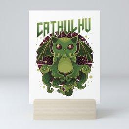 Cute & Funny Cathulhu Kawaii Cat Cthulhu Mini Art Print