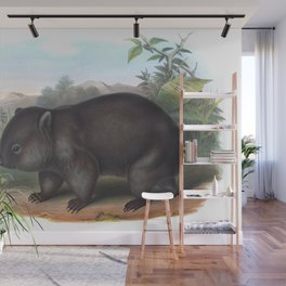 Wombat in the nature of Australia Wall Mural