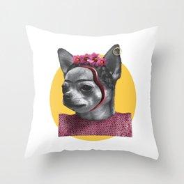 FRIDA CHIK-HUAHUA Throw Pillow