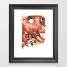 Moonbot #1: Red Framed Art Print