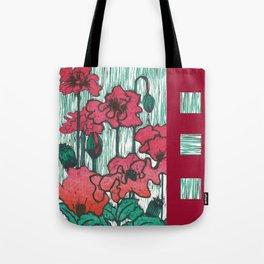 Poppies Square WKS Tote Bag