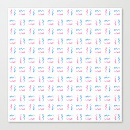 free scribble 2 blue and pink Canvas Print