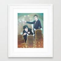 enerjax Framed Art Prints featuring Sherlock and Ten by enerjax