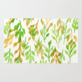 180726 Abstract Leaves Botanical 5|Botanical Illustrations Rug