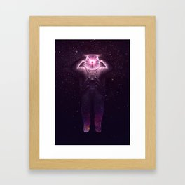 The mind blown Framed Art Print