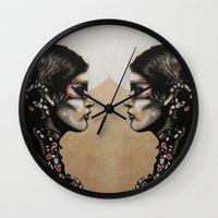 native Wall Clocks featuring Native by Mo Baretta