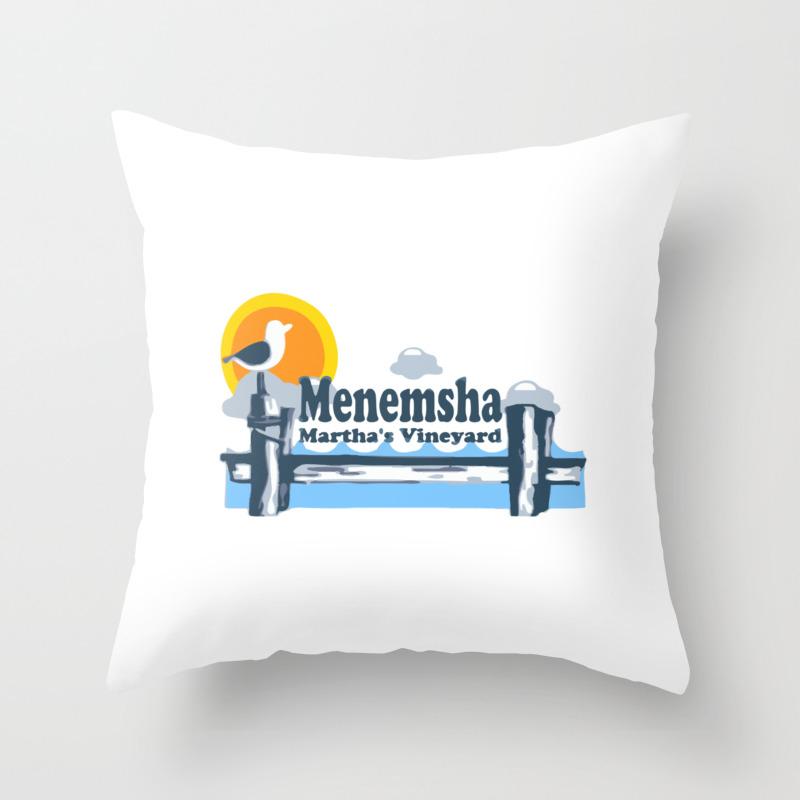 Menemsha Martha S Vineyard Throw Pillow By Amricaroadside Society6