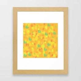 '90 Style Pastel Pattern Framed Art Print