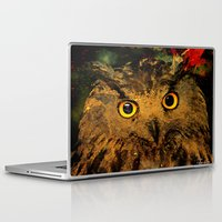 owls Laptop & iPad Skins featuring Owls by Joe Ganech