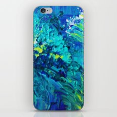 DIVE IN - Beautiful Textural Abstract Acrylic Painting Ocean Waves Beach Art Home Decor Gift iPhone & iPod Skin