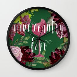 Wine Country Love Wall Clock
