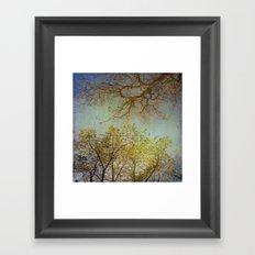 Above us Framed Art Print