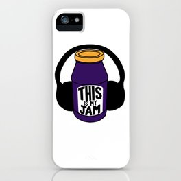 This Is My Jam - Headphone Edition (Grape) iPhone Case