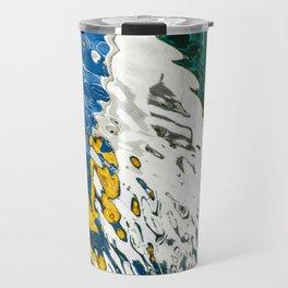 Yellow Blue Green Abstract Travel Mug