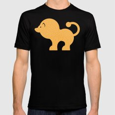 Fun at the Zoo: Lion MEDIUM Mens Fitted Tee Black