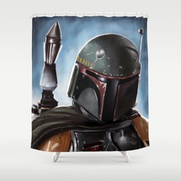 Boba Fett Art Portrait Shower Curtain