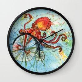 Octopus Bike Wall Clock