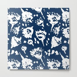 Seed Pod Indigo Metal Print