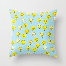 Lightbulb moment Throw Pillow
