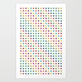 Colourful Dot Design Art Print