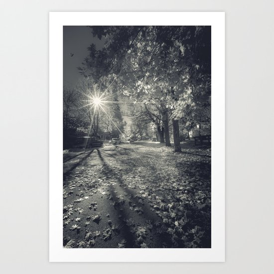 The Last Weekend of Calming Yellow Autumn V Art Print