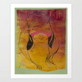 sauvage girl Art Print